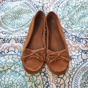 Brown moccasins